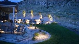 Landscape lighting in Brigham City, UT