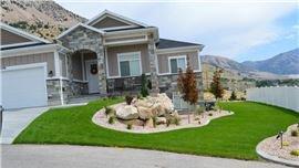 Rock garden and hardscaping design in Brigham City, UT